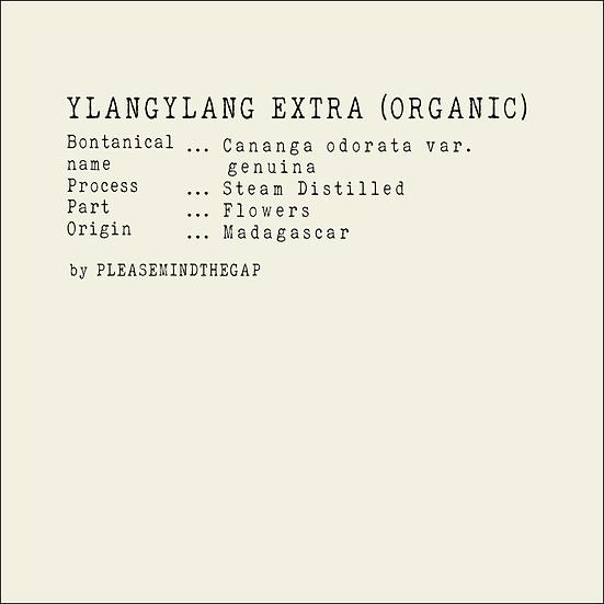 Organic Ylang Ylang Extra essential oil 10ML 特級有機依蘭依蘭精油 10ML
