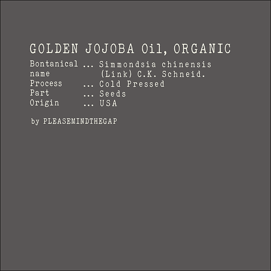 Golden Jojoba Oil, Organic 有機黃金荷荷巴油 100ML