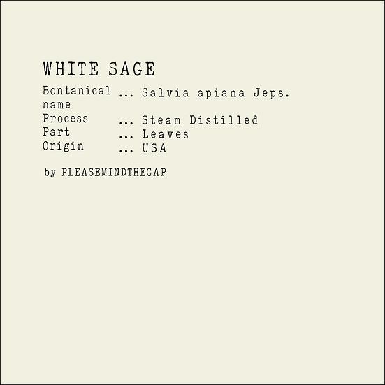 White Sage essential oil 10ML 白鼠尾草精油