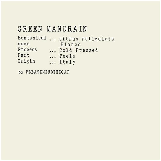 Green Mandarin essential oil 10ML 綠橘精油