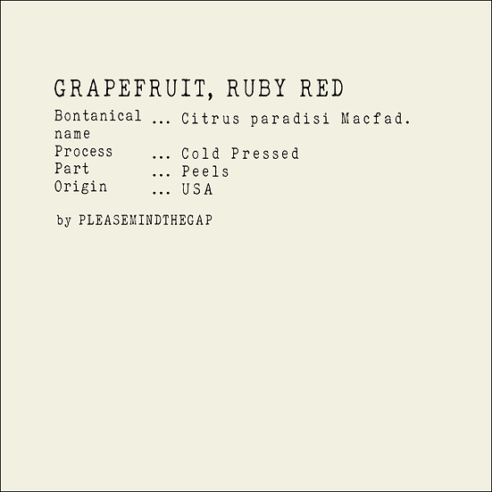 Ruby Red Grapefruit essential oil 10ML |紅寶石西柚精油 10ML