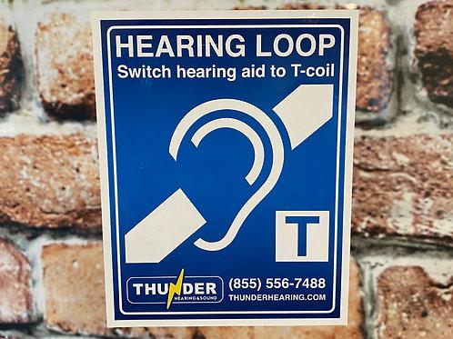 Hearing Loop Static Cling - FREE