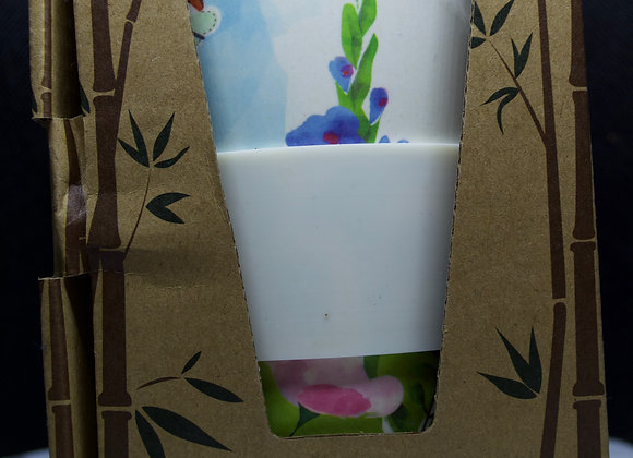 Reusable  botanical garden design travel mug