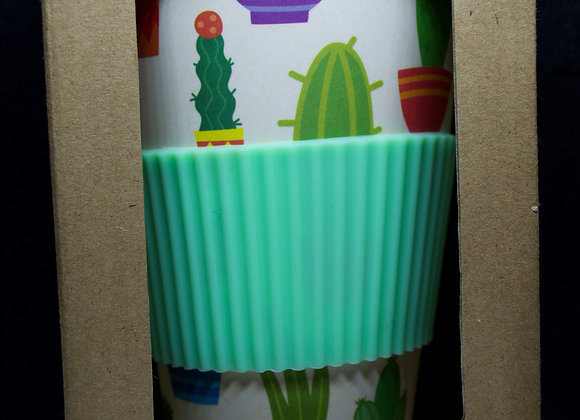 Reusable cactus travel mug