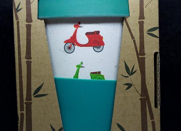 Reusable scooter travel mug