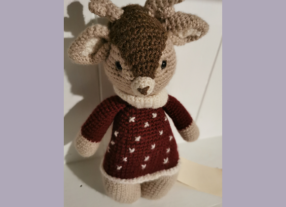 Handmade knitted Deer