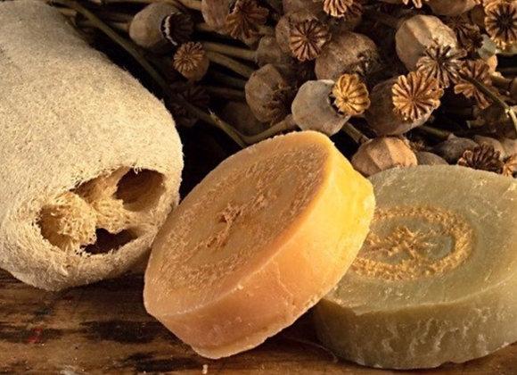 Lemongrass & Lime handmade exfoliating loofah soap