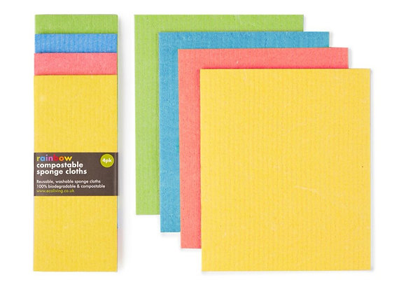 Compostable Rainbow Cleaning Cloths
