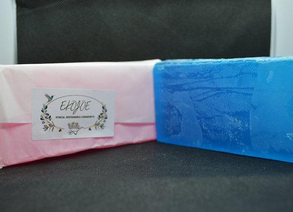 Lavender blue handmade soap