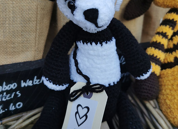 Handmade panda with natural filling