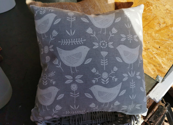 Handmade bird design cushion