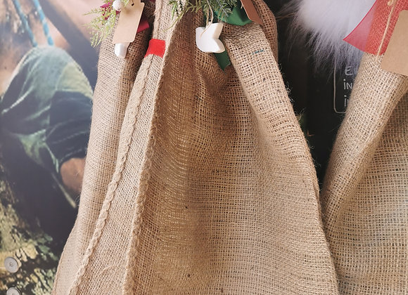 Handmade hessian sacks