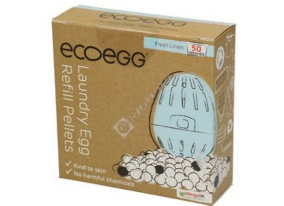 Laundry egg refill pellets