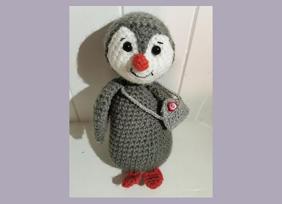 handmade knitted penguin
