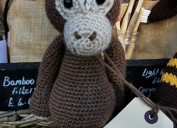 Handmade monkey with natural filling