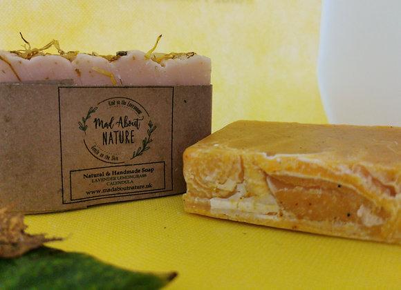 Natural lime & green tea soap