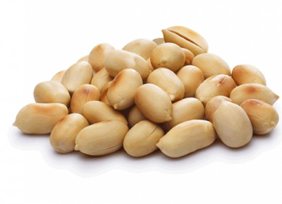 Organic blanched roasted peanuts per 100g