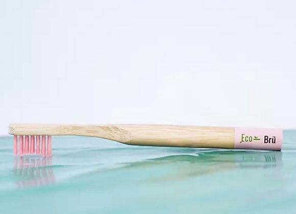 Children's pink bamboo toothbrush