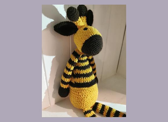 Handmade knitted giraffe
