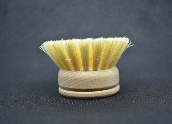 Replacement head for light wood dish brush