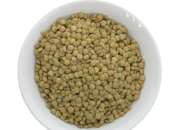 Green lentils per 100g