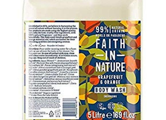 Faith in nature grapefruit and orange body wash per 100ml