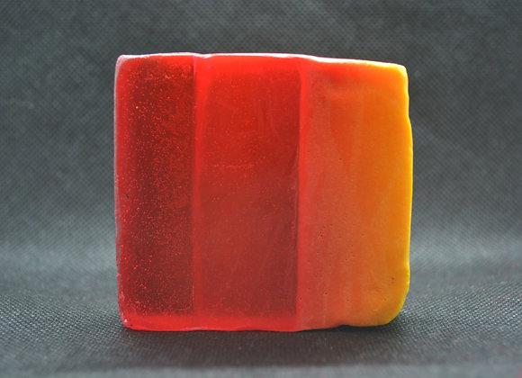 Handmade grapefruit soap