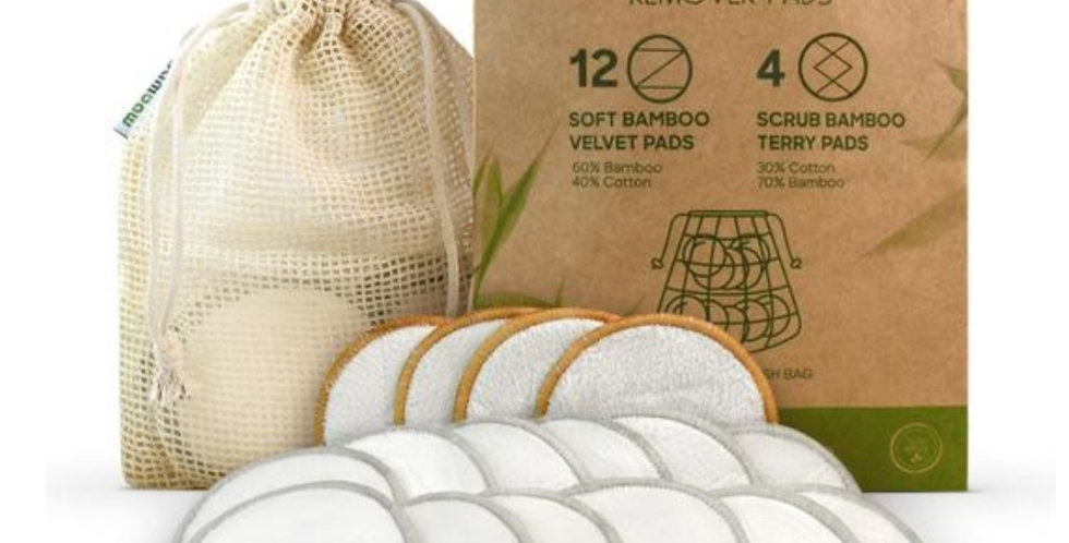 Bamboo makeup remover pads 16 pack