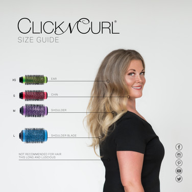 Click n Curl Size Guide