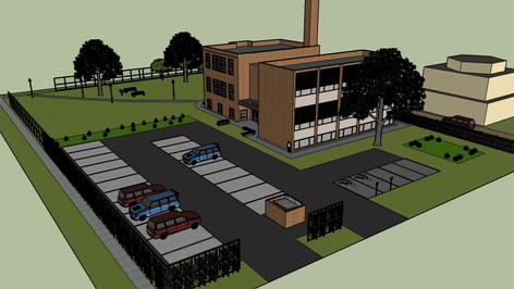 School House Block Rendering back