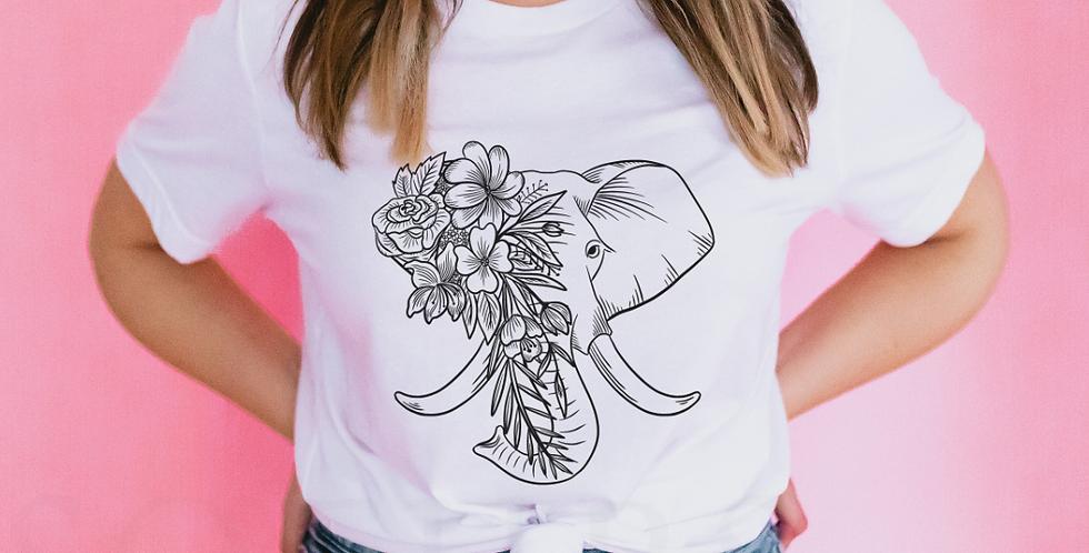Elephant - White T-Shirt