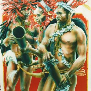 Oksapmin Dancers - W. Sepik Province