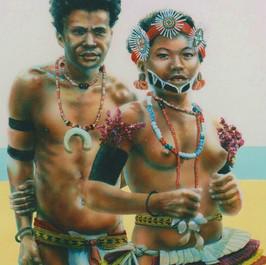 Kiriwina Couple - Milne Bay Province