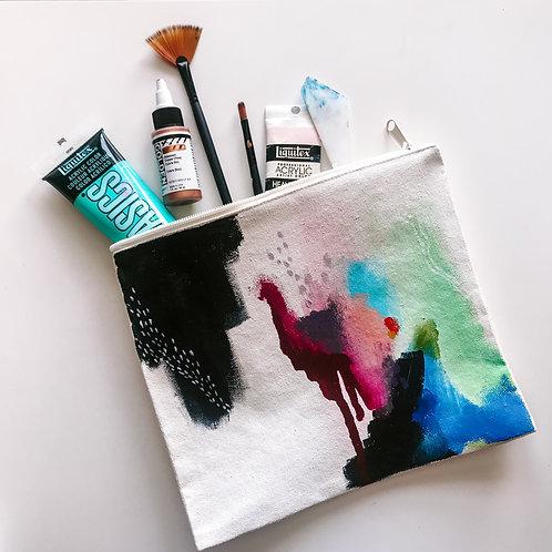 Multi Canvas Zipper Bag
