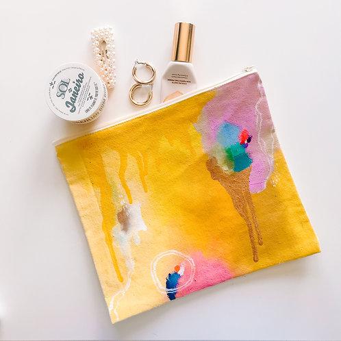 Sunshine Canvas Zipper Bag