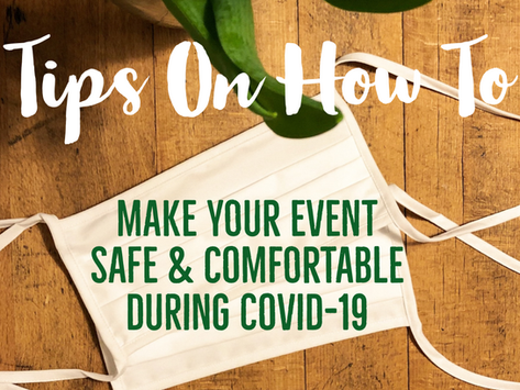 Tips For Covid-19 Weddings & Events