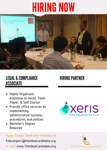 Hiring Now - Xeris Pharmaceuticals. Apply Today!