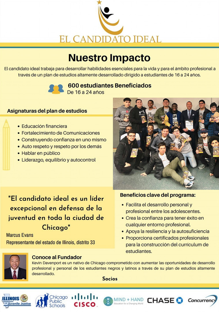 The Ideal Candidate Curriculum is now available in Spanish!! We are proud to be able to serve our Latinx community better.
