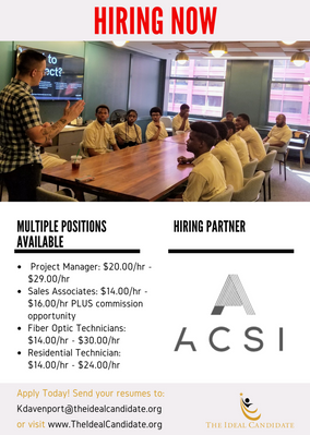 ACSI - 4 Positions Available. Apply Today!