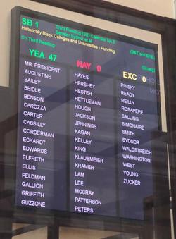 Senate Vote SB1