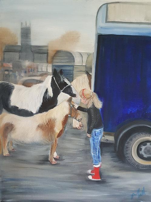 Print of The Horse Fair