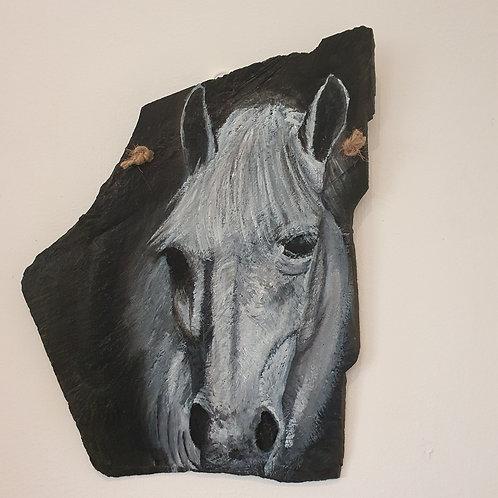 White Horse - medium slate