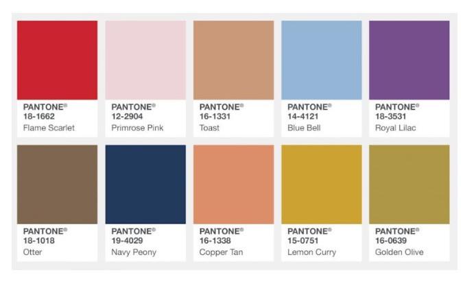 Fashion Color Report Fall 2017