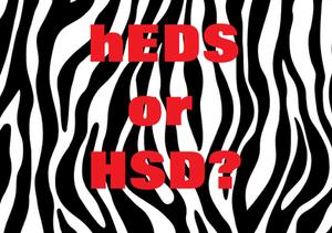 hEDS or HSD on zebra stripe background