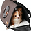 Thumbnail: Bubble Window Cat Carrier, Small, Chocolate