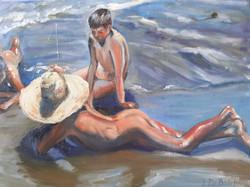 Boys on Beach after Sorolla