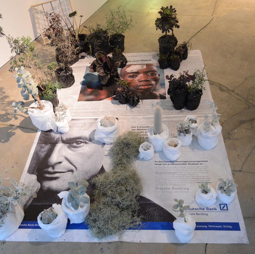 Ebony and ivory, 2014, mixed media, 가변크기 installation view02
