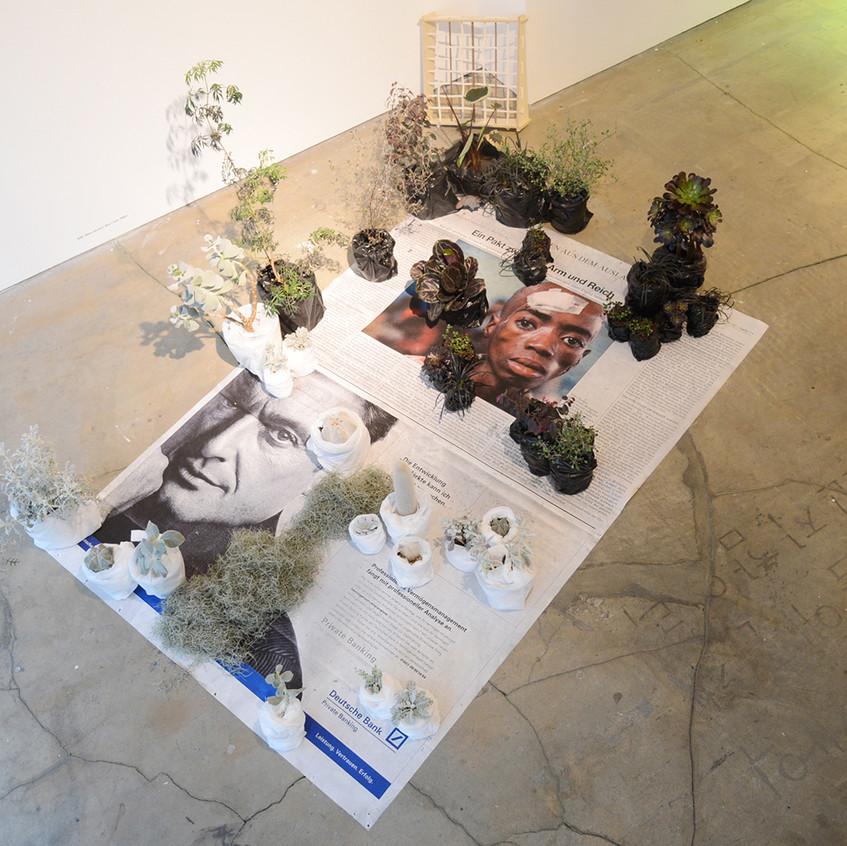 Ebony and ivory, 2014, mixed media, 가변크기 installation view01