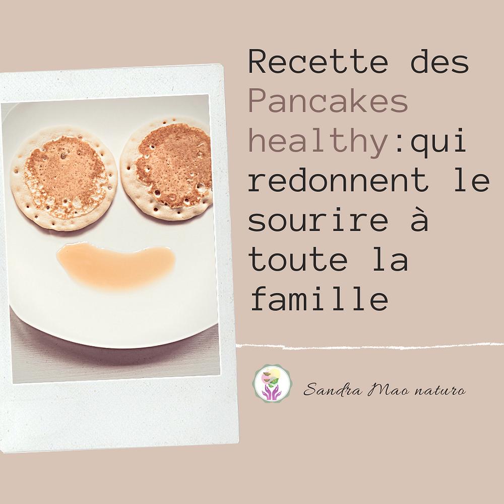 recette de pancakes sans sucre te sans matière grasse