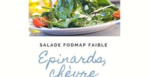 Salade du printemps pauvre en Fodmap : épinards, chèvre